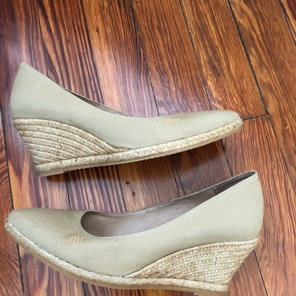 350eeef7fda Viscata Roses Espadrille Wedge. Color: Beige.